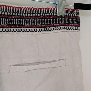 LOFT Shorts - Embroidered LOFT Linen Shorts